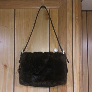 Vintage Blaine Trump Faux mink/fur handbag